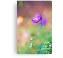 Proud Purple Cranesbill Canvas Print