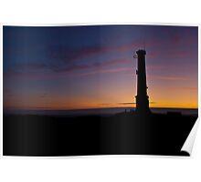 Kit Hill Stack, Sunset Poster