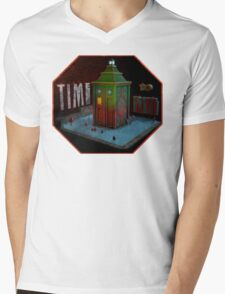 Time Machine Mens V-Neck T-Shirt