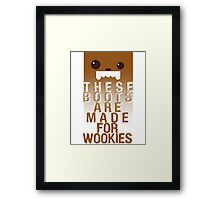 These boots are made for Wookies Framed Print