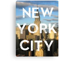 New York City - Text Overlay Canvas Print