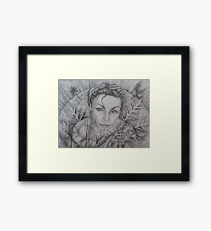 fade back to my nature . . . .  Framed Print