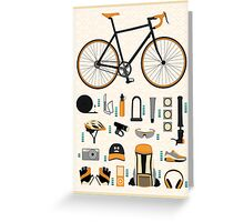 Bike gear Greeting Card