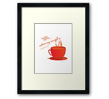 Coffee Colors My World – Analogous Strategy Framed Print