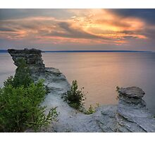 Sunset from the top of Miners Castle Photographic Print
