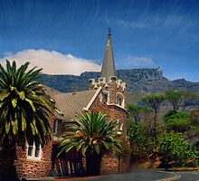 Table Mountain seen from the Gardens, S.Africa  by Johanna26