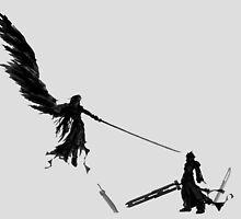 Sephiroth vs Cloud GS by shevil