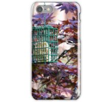 Female Downy Woodpecker on Suet Feeder iPhone Case/Skin