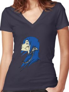 Midnight Elf Design Women's Fitted V-Neck T-Shirt