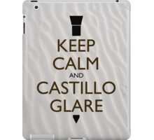 Keep Calm and Castillo Stare (Sand) iPad Case/Skin