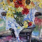 August Still life with Cezanne and Matisse  by TerrillWelch