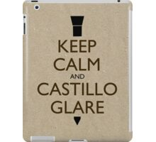 Keep Calm and Castillo Stare (Wet Sand) iPad Case/Skin