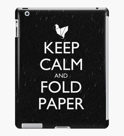 Keep Calm and Fold Paper - Chicken/Rain iPad Case/Skin