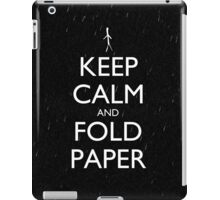 Keep Calm and Fold Paper - Stickman/Rain iPad Case/Skin