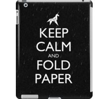 Keep Calm and Fold Paper - Unicorn / Rain iPad Case/Skin