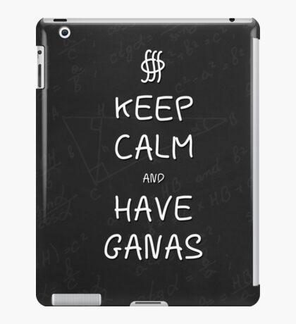 Keep Calm and Have Ganas - Chalkboard iPad Case/Skin