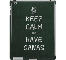 Keep Calm and Have Ganas - Green Chalkboard iPad Case/Skin