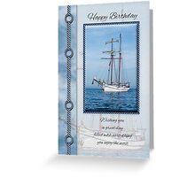Yacht Birthday Greeting Card Greeting Card