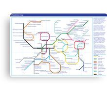 Metabolism - Tube Map Canvas Print