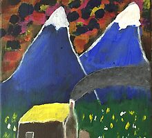 Hut by the hills by John Wiseman by TheMudFactory