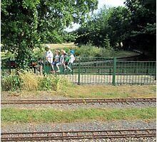 the trains arriving at platform four Photographic Print