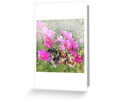 Day Out with the Flowers Greeting Card