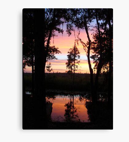 JULY SUNSET ON ECONFINA CREEK Canvas Print