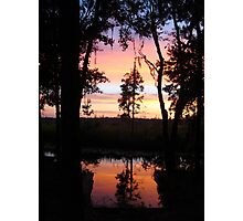 JULY SUNSET ON ECONFINA CREEK Photographic Print