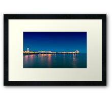 Brighton beach after sunset Framed Print