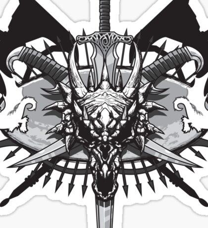 Dragon Hunting Badge Sticker