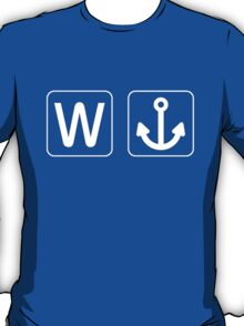 W Anchor T Shirt 1 T-Shirt