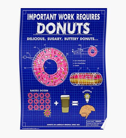 Donuts Blueprint Poster