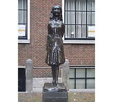 A Statue of Anne Frank Photographic Print