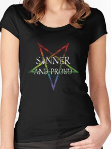 Sinner and Proud Women's Fitted Scoop T-Shirt