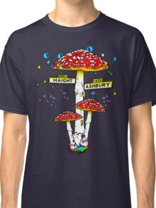 Haight Ashbury - Psychedelic Mushroom Classic T-Shirt