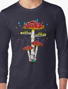 Haight Ashbury - Psychedelic Mushroom Long Sleeve T-Shirt