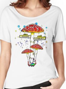 Haight Ashbury - Psychedelic Mushroom Women's Relaxed Fit T-Shirt