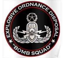 Master EOD Bomb Squad Poster