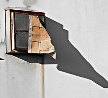 Window with Cardboard © by Ethna Gillespie