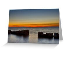BURGHEAD HIGH TIDE SUNSET Greeting Card