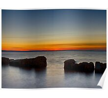 BURGHEAD HIGH TIDE SUNSET Poster