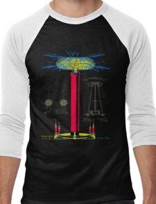 Tesla Coil Men's Baseball ¾ T-Shirt