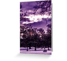 Parkland in the winter Greeting Card