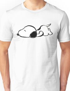 Snoopy sleeping Unisex T-Shirt
