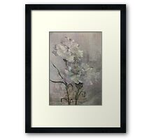 Castle Flowers Framed Print