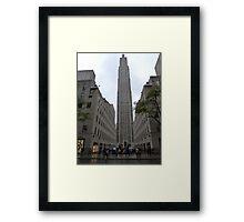 NYC Manhattan Skyscraper Framed Print