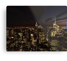 NYC Skyline at Twilight Metal Print