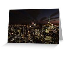 NYC Skyline at Twilight Greeting Card