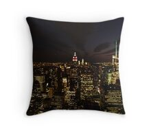 NYC Skyline at Twilight Throw Pillow