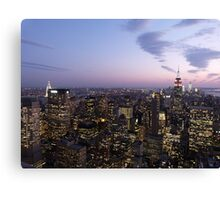 NYC Empire State and Chrysler Building Twilight  Canvas Print